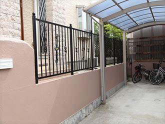 擁壁,塗装,柵