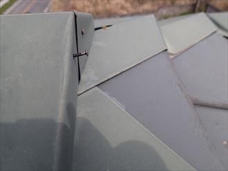 屋根,棟板金,釘,浮き
