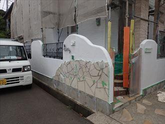 擁壁,下塗り