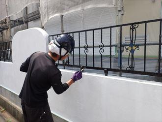 柵,黒,塗装