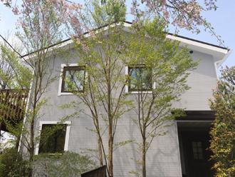 藤沢市 屋根塗装 外壁塗装 現状回復 G05-75A 破風窓枠白 ケラバ サーモアイ4F クールチョコ