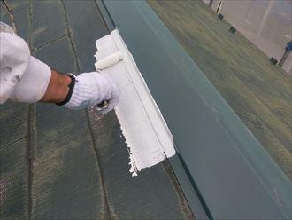 屋根,塗装,下塗り,サーモアイSi,遮熱