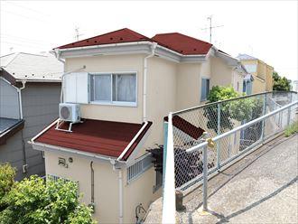 屋根外壁塗装,カラーシュミレーション,レッド,クリーム
