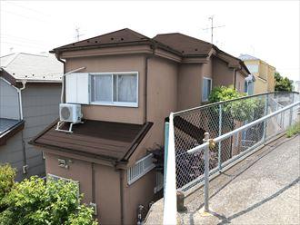 屋根外壁塗装,カラーシュミレーション,ブラウン