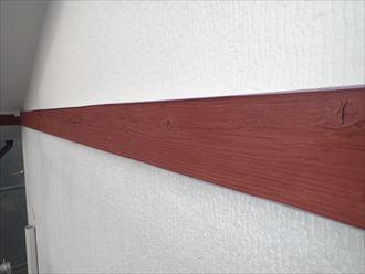 幕板,下塗り,赤