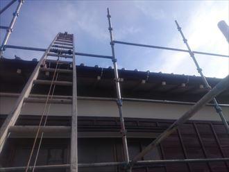 足場架設,屋根外壁塗装工事
