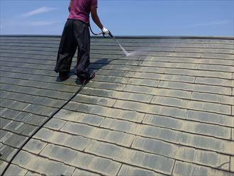 屋根塗装工事,高圧洗浄