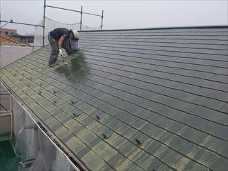 屋根,ファインシリコンベスト,下塗り