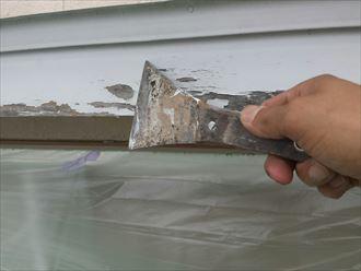 ヘラ,破風板,木材,ケレン,塗膜