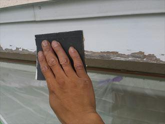 ペーパー掛け,ケレン,木材,破風板,塗装前