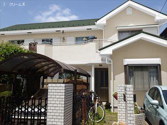 カラーシュミレーション,屋根外壁塗装,クリーム系