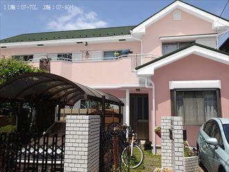 カラーシュミレーション,屋根外壁塗装,ピンク系