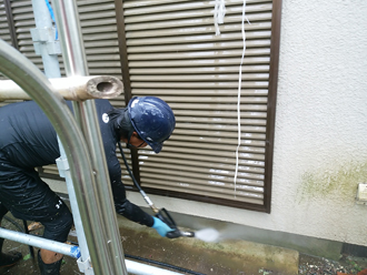 イオ洗浄】外壁塗装と屋根カバー工事