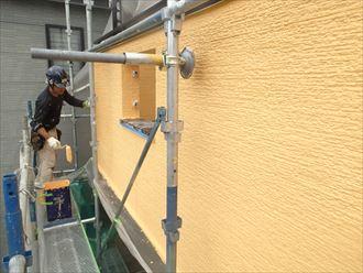 上塗り,外壁塗装,エラストコート