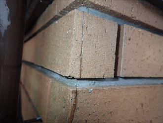 ブリックタイル,ひび割れ,補修