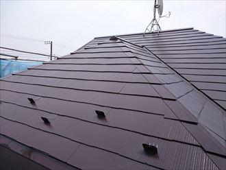 屋根塗装,完了,クールコーヒーブラウン,サーモアイSi