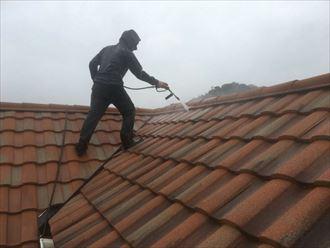屋根,洗浄,高圧洗浄