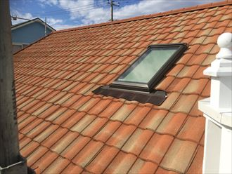 屋根,洗浄後,天窓
