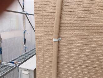 足立区のお客様、ベランダのトップコート施工、付帯部塗装工事