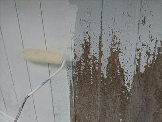 松戸市で木製外壁の塗装工事、ファインパーフェクトトップをニットコウで調色