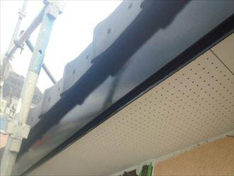 破風板,2回塗り,黒