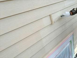 勝浦市 外壁塗装のタッチアップ・細分塗装と足場組替