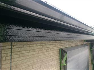 破風板,雨樋,黒,2回塗り,仕上げ