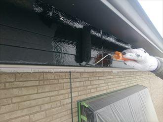 破風板,雨樋,黒,2回塗り,ケレン