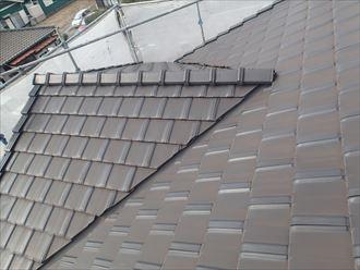 屋根,洗浄後