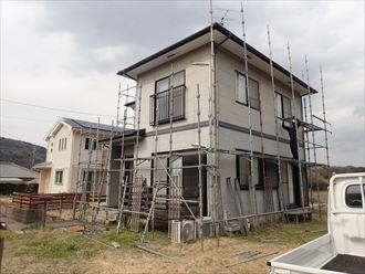 足場架設,屋根外壁塗装