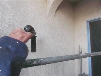高圧洗浄,モルタル