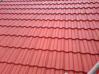 屋根塗装 ハイルーフマイルドシリコン 塗装色 テラコッタ