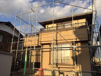 足場架設,工事前,屋根外壁塗装