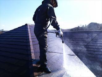 高圧洗浄,屋根