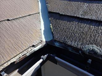 谷板金,スレート屋根