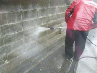 擁壁,洗浄