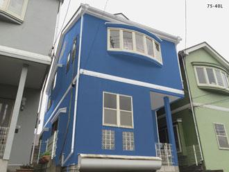 藤沢市 屋根塗装 外壁塗装 カラーシミュレーション 水色の外壁 75-40L