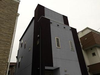 築15年が経過する外部鉄骨階段の塗装メンテナンスを実施