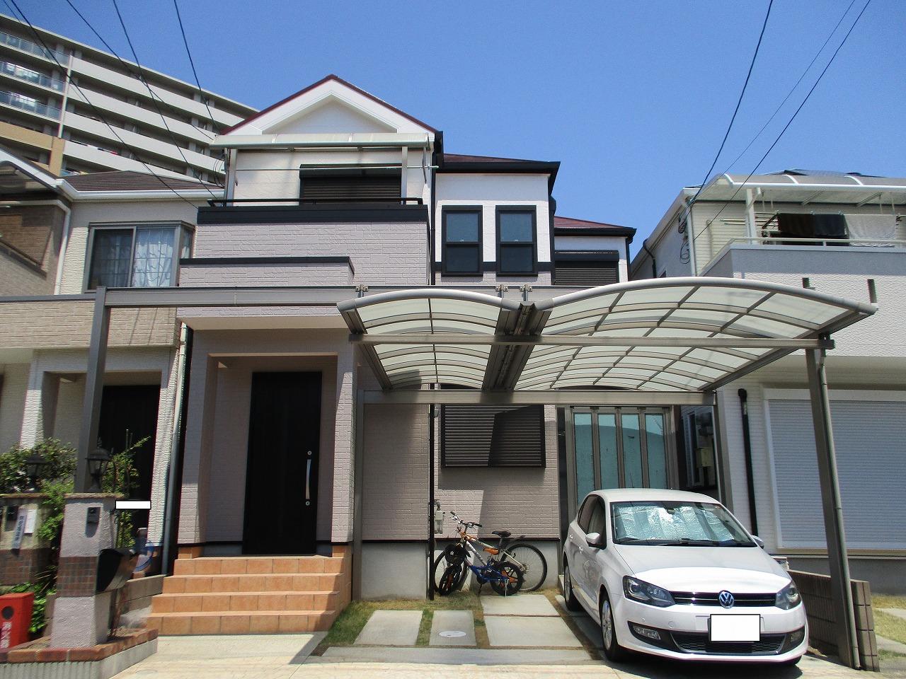 大阪市淀川区で初めての屋根塗装・外壁塗装は2トーン仕上げ