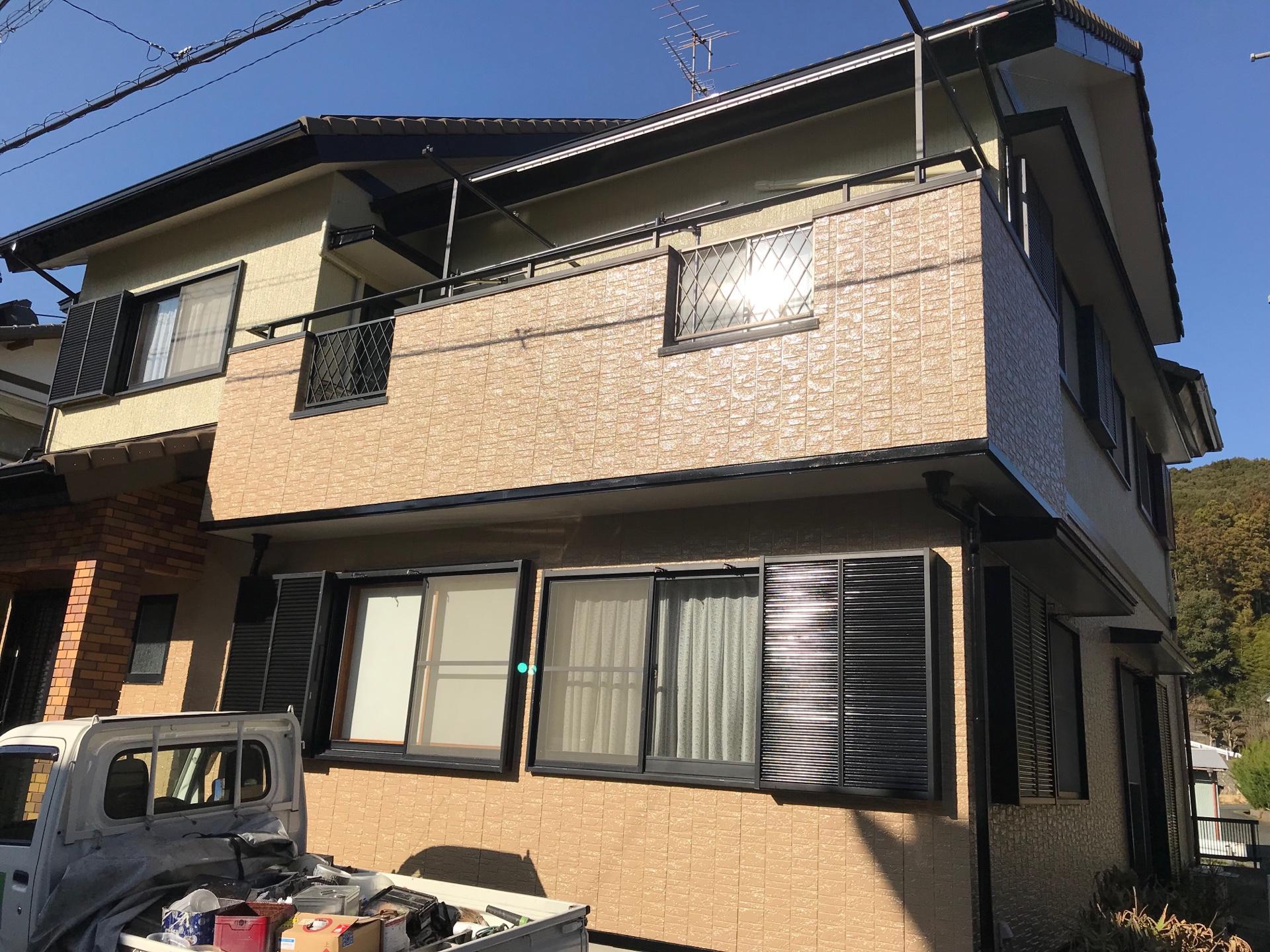浜松市浜北区の住宅外壁塗装工事で30年耐久塗料を使用しました
