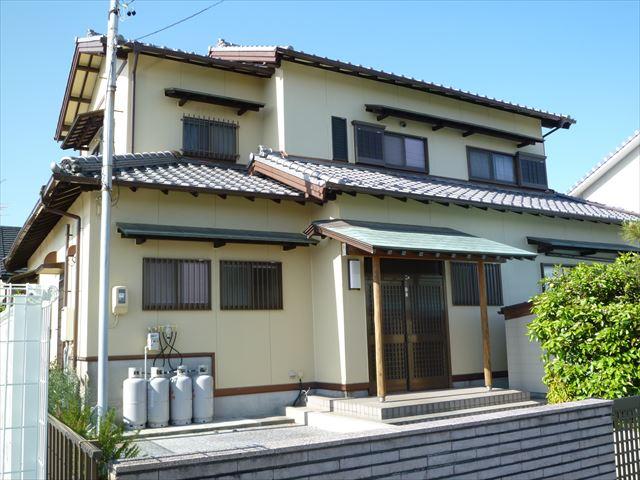 浜松市南区において不動産物件の住宅外壁塗り替え工事を行いました。