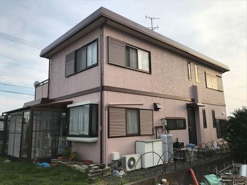 浜松市西区湖東町で住宅外壁、屋根の塗り替え工事をしました。