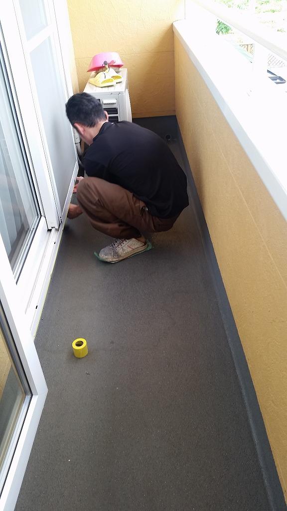 盛岡市にてベランダのFRP防水工事を行いました