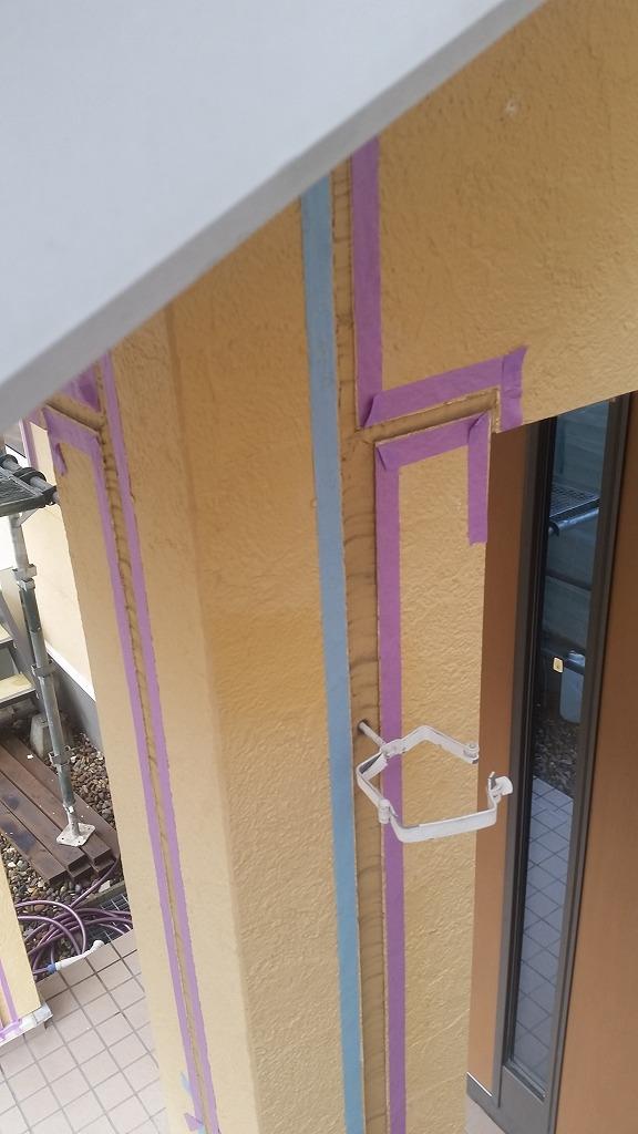 盛岡市にて外壁コーキング工事を行いました