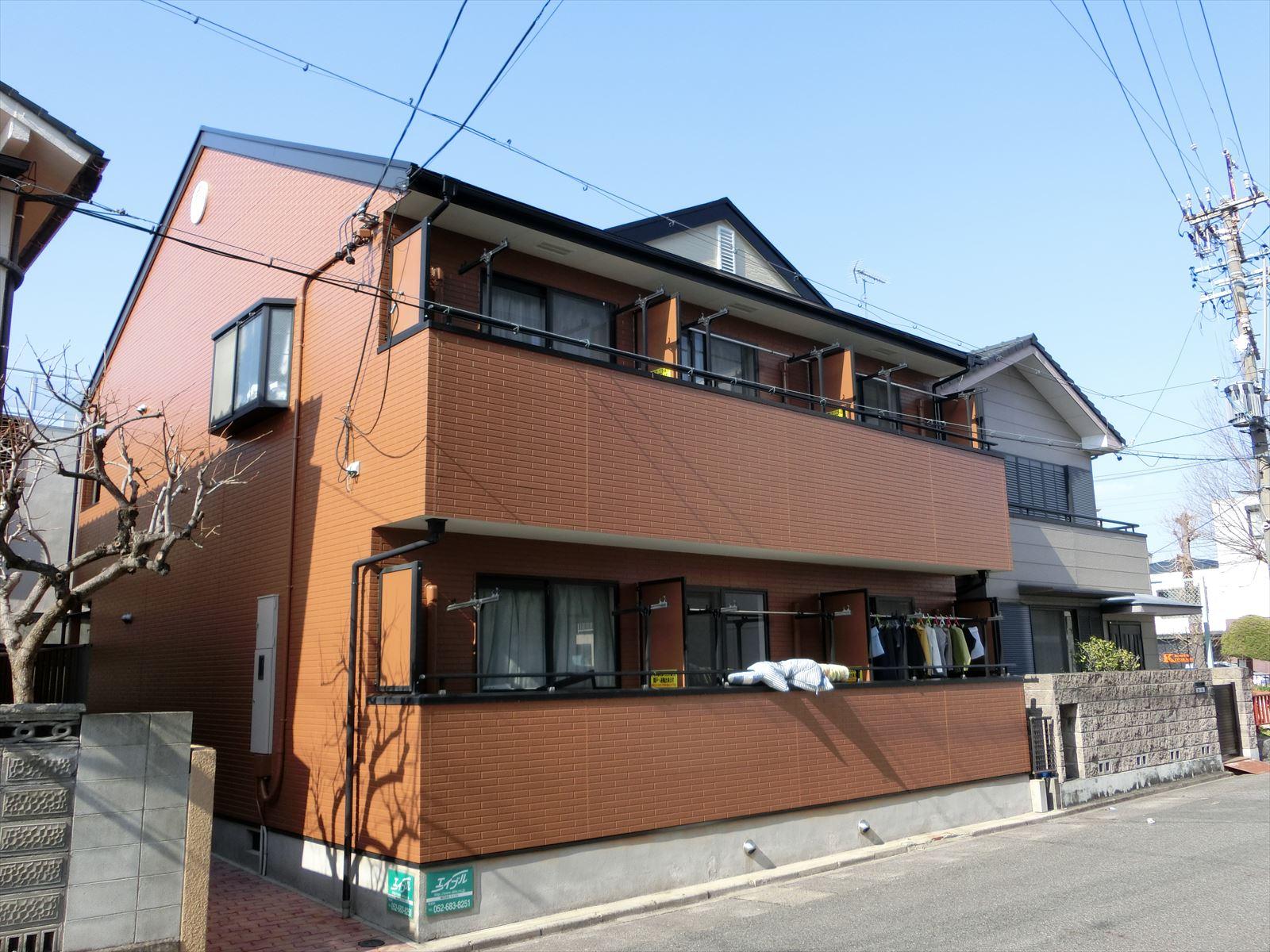 名古屋市熱田区の賃貸アパートの塗り替え