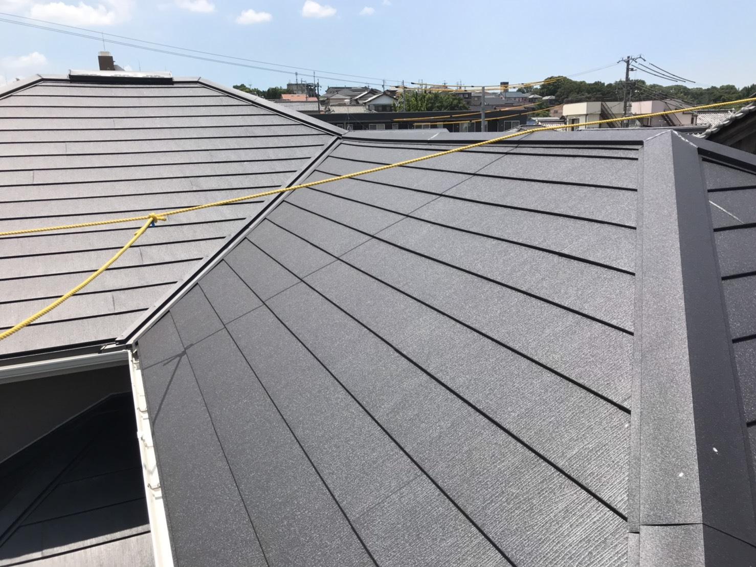 名古屋市緑区/屋根のカバー工法/ガルバリウム鋼板