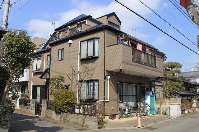 川越市/3階建ての外壁屋根塗装が綺麗に完成しました。