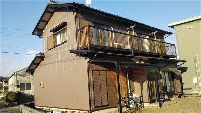 岐阜市で外壁塗装をラジカル制御シリコン塗装で行いました。