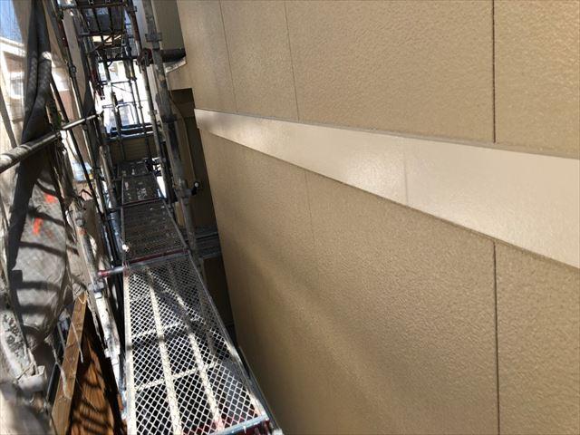 春日井市高森台で、低汚染性シリコン塗料で外壁塗装工事が完成です