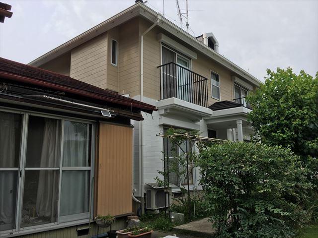 春日井市玉野町で屋根はガルバで葺き替え、外壁はリファインMF無機フッ素です